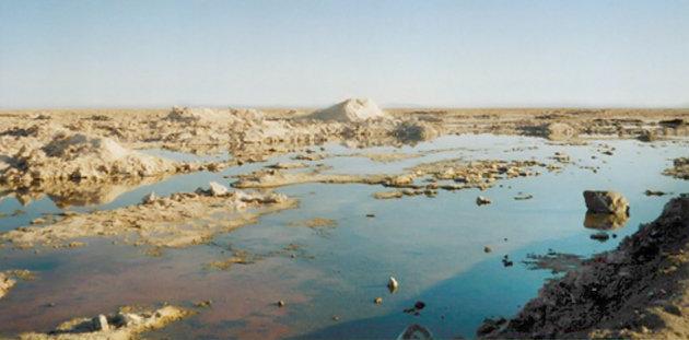 Salt lake in North Ambergris Caye