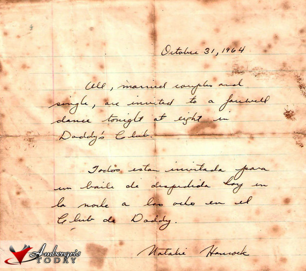 Letter Invitation for a farewell for Nathalie Hancock