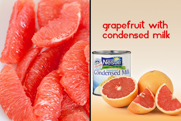 Grapefruit with Condensed Milk