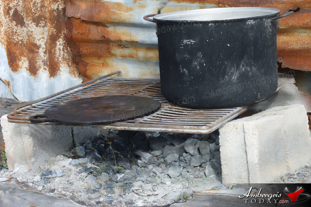 The Fogon, Fire Hearth was the maing cooking source in San Pedro, Ambergris Caye