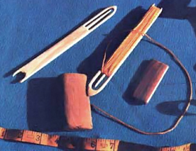 Tools for making a fishing gill net
