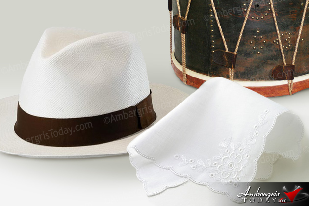 The Panama hats were very pupular with the young men of San Pedro.  No man was allowed to touch his lady even if it was his wife.  They placed a handkerchief on each hand so that they would not make contact with her hands or her shoulders.