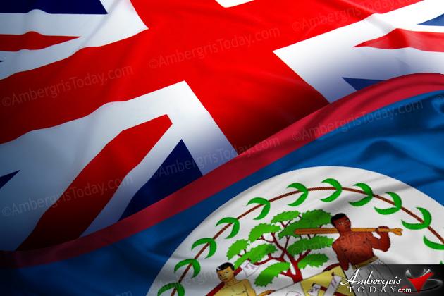 British, Union Jack Flag along with the Belize Flag