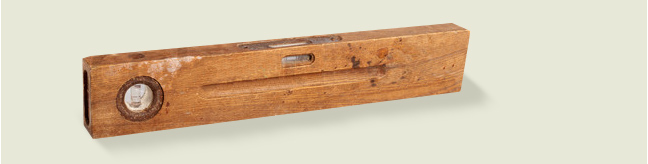 Old, Vintage spirit Level