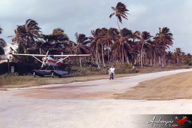 John Greif brought the first Seaplane to San Pedro, Ambergris Caye