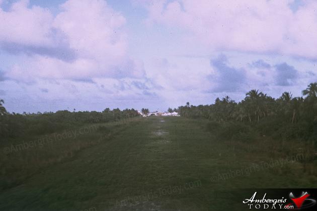 San Pedro's grassy airstrip in 1969