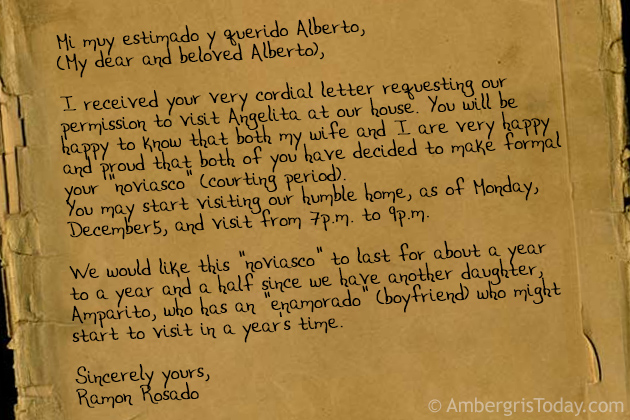 Alberto Receives his Letter of Acceptance