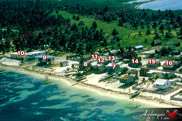San Pedro Village, Ambergris Caye, Belize in the 1950's