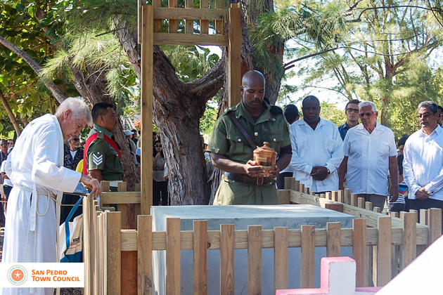 "Louise ""Cuz"" Sylvestre's State Funeral Services in Caye Caulker on March 14, 2014"