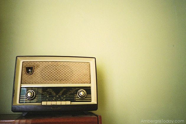International Radio Stations were Entertainment for Island Villagers of San Pedro, Ambergris Caye,  Belize
