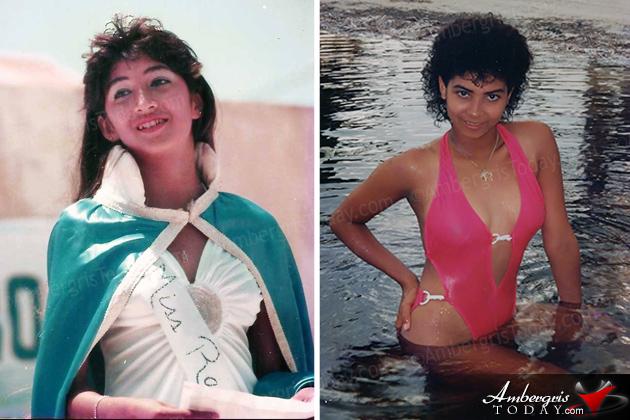Miss World 1986 Giselle Jeanne Marie Laronde West Visits San Pedro, Ambergris Caye, Belize