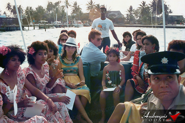 Miss World 1986 Giselle Jeanne Marie Laronde West Visits San Pedro, Ambergris Caye, Belize