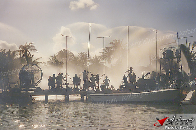 The Filming of Mosquito Coast in San Pedro, Ambergris Caye