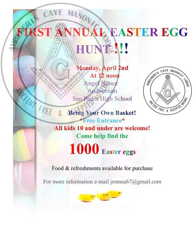 Ambergris Caye Masonic Lodge to Host Easter Egg Hunt