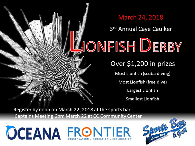 The annual Lionfish Derby is coming up on March 24th!!