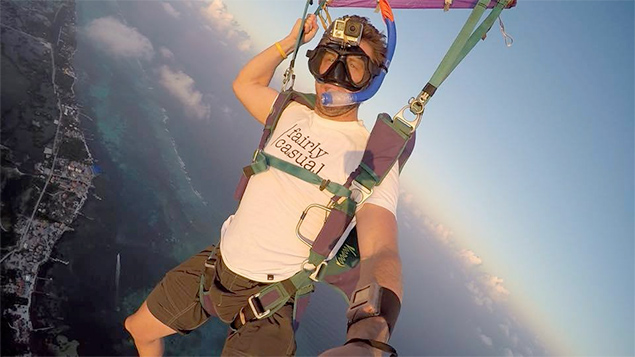 Skydiving Over the Great Blue Hole of Belize