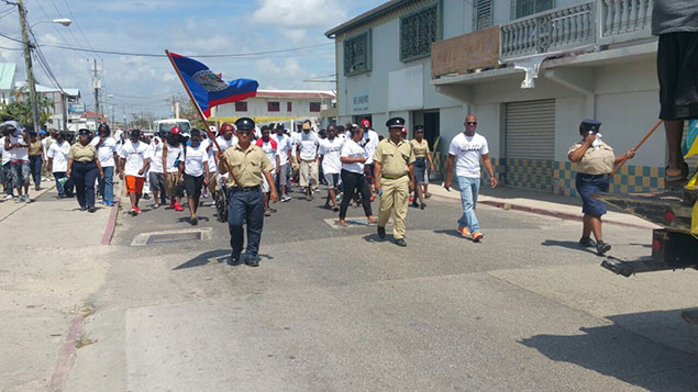 Gangs in Belize City March for Peace, A First in Belize
