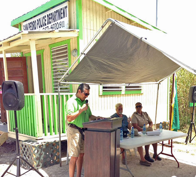 Police Booth Now Operational in North Ambergris Caye