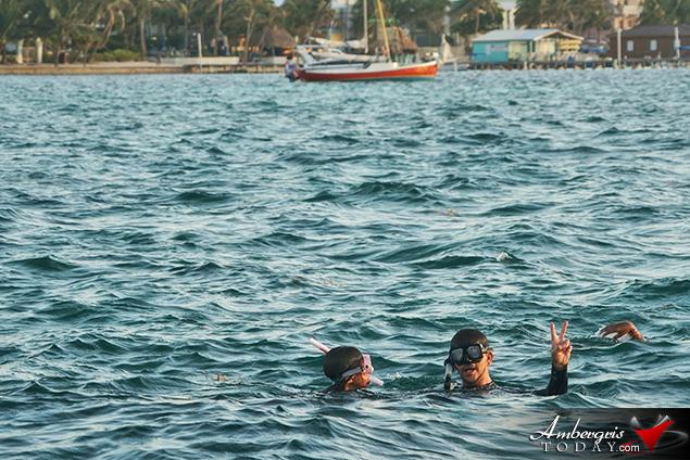 Early Morning Reef Swim Kicks off Reef Week on Ambergris Caye