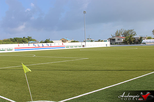 New Ambergris Stadium Officially Inaugurated to Promote Sports in San Pedro