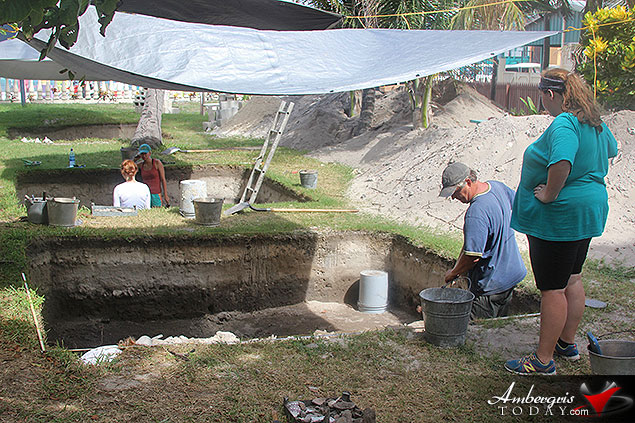 Maya Findings in Downtown San Pedro as Archaeological Students Conduct Digs