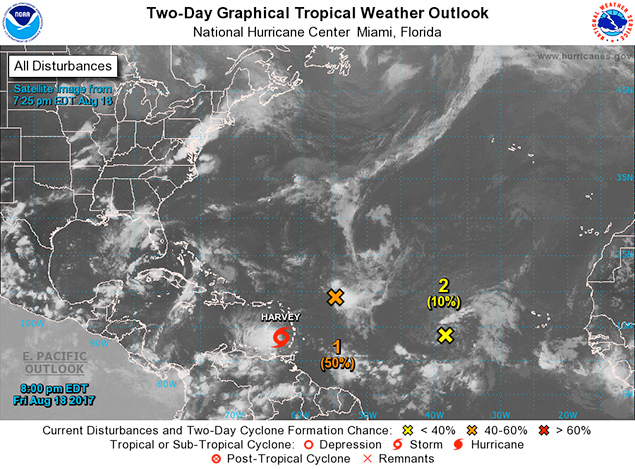 Tropical Storm Harvey Sets Sights on Belize