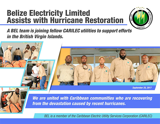 BEL Assists British Virgin Islands with Hurricane Restoration