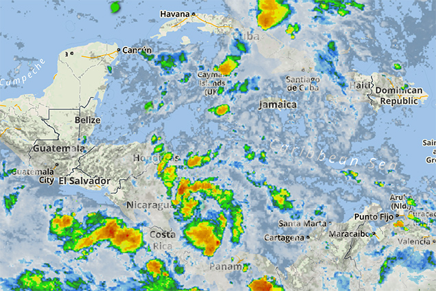 NEMO Issues Tropical Depression Advisory (TD 16) Forms Off Nicaragua Coast