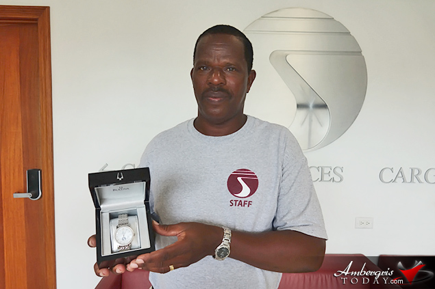 Tropic Air Awards Employee with 30 Years of Service