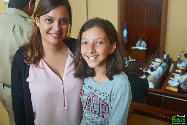 Amber and Madison Edwards of iTravel Belize at the House of Representatives