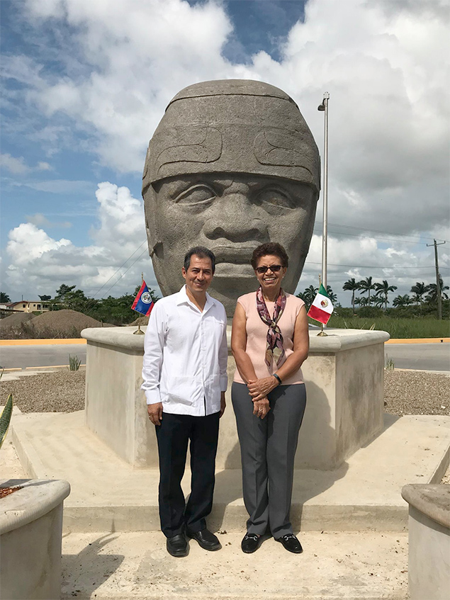 Colossal Olmec Head Offered by Mexico as Gift to Belizean People