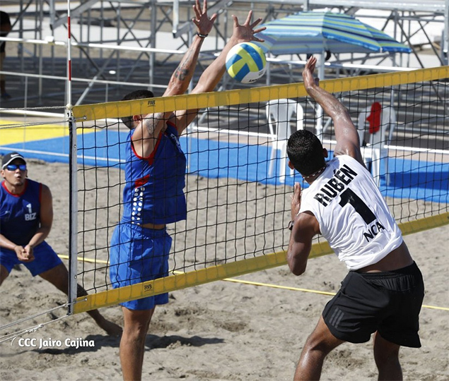 Team Belize Competes in Beach Volleyball at Central American Games