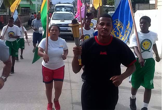 Belize Special Olympics Law Enforcement Torch Run in San Pedro