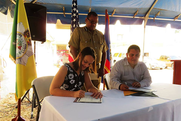 US Embassy Donates Fingerprint Machines to Belize Police Department