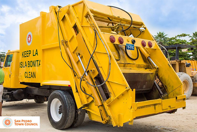 San Pedro Town Council Purchases another Garbage Compactor