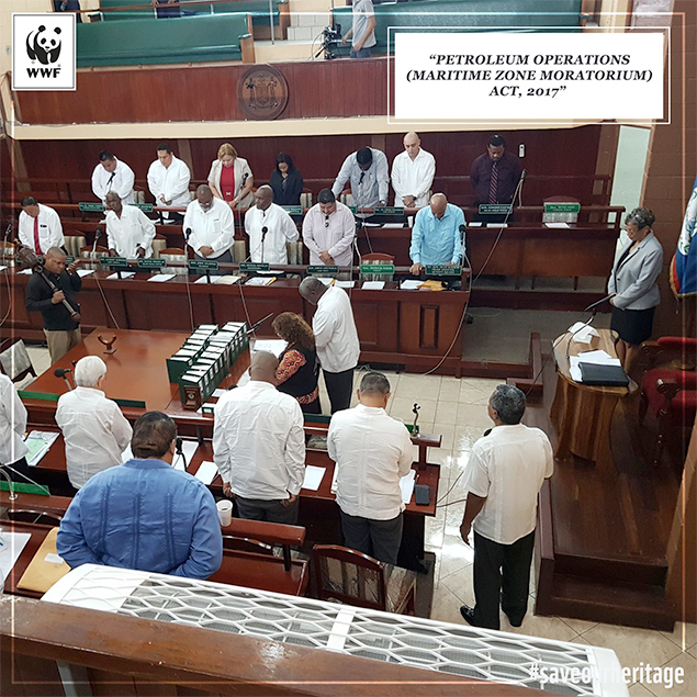Belizean Leaders Give Bi-Partisan Support to Offshore Oil Moratorium Legislation