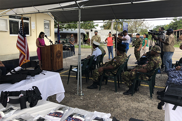 U.S. Government Donates Counter Narcotics Equipment to Belize Ministry of Defence