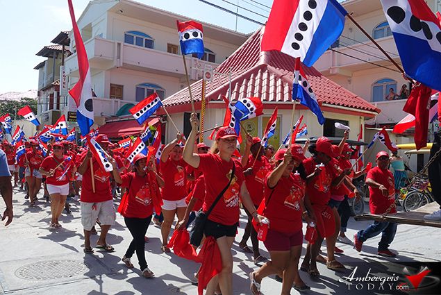 Nomination Day in San Pedro Town