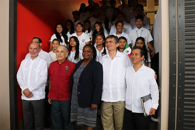 Belize and Mexico Inaugurate Placing of Olmec Head in Belmopan