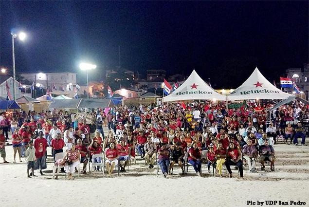 San Pedro UDP Victory Rally