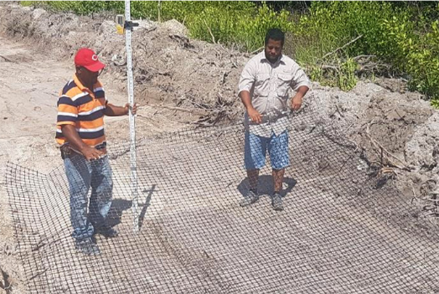 Work Underway at the Caye Caulker Municipal Airstrip