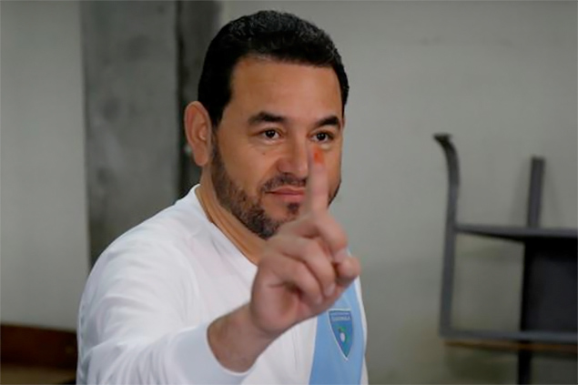 Guatemalan President Jimmy Morales voted in his country's referendum on Sunday, though many of his compatriots did not