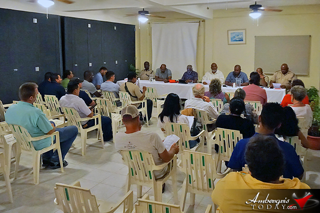 Minister of National Security Meets with San Pedro Residents