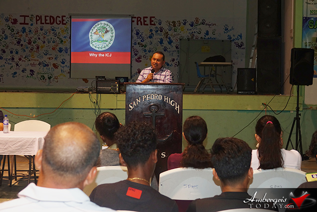 Ambassador of Belize to Guatemala Addresses Student Body on Belize-Guatemala Territorial Dispute
