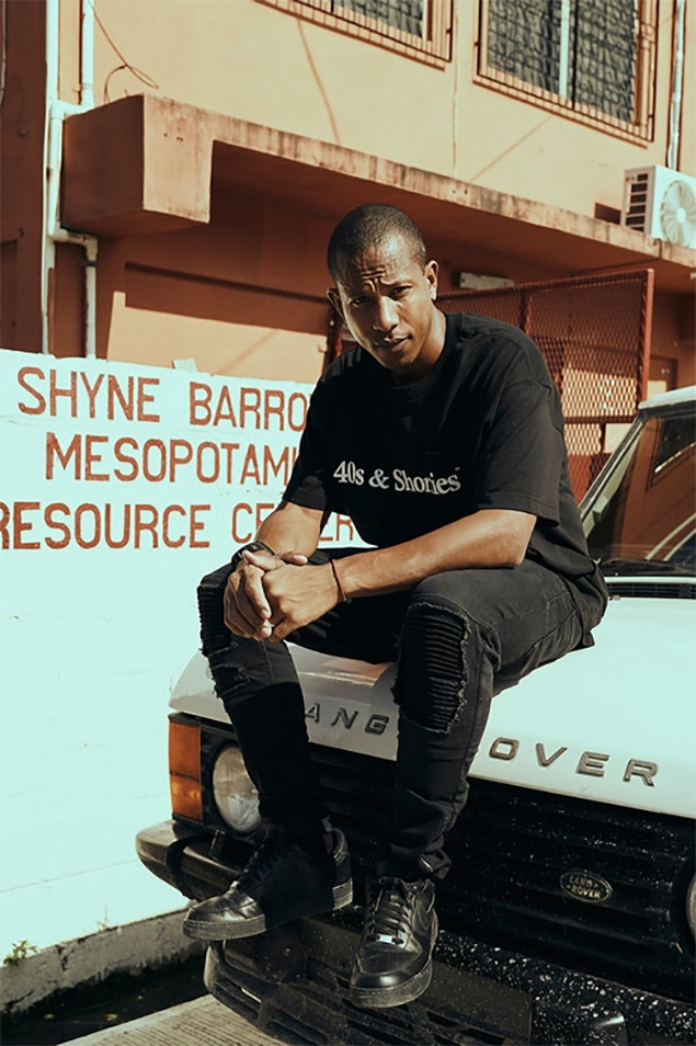 Shyne Barrow Launches Collaborative T-Shirt with 40s & Shorties