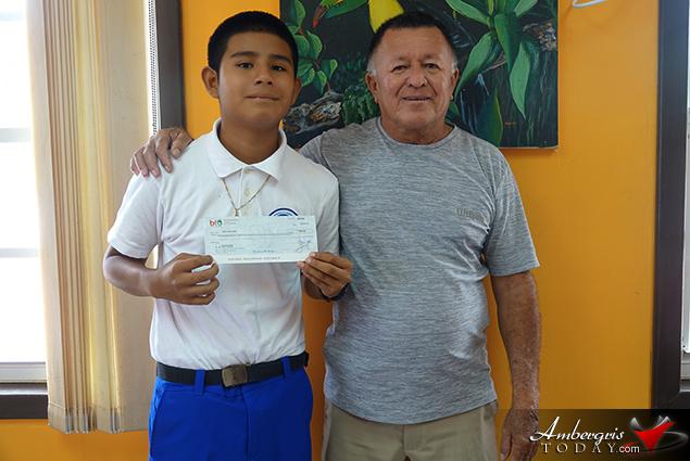 Hon. Manuel Heredia Awards Top PSE Scorers of San Pedro and Caye Caulker