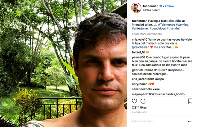 Mark Tacher posts on Instagram, in Belize filming Reina del Sur 2