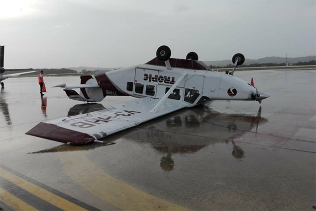 Freak Storm In Guatemala Damages Tropic Aircraft