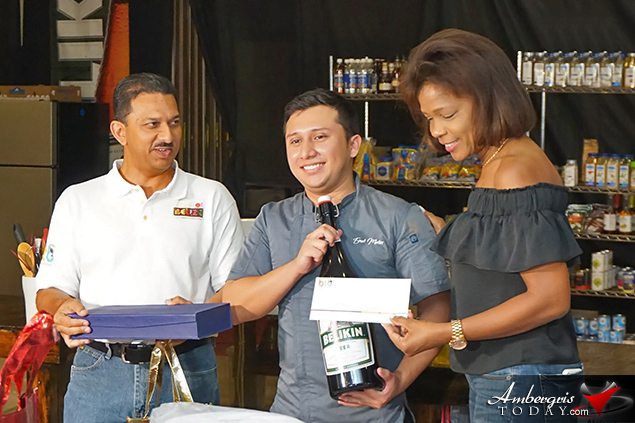 Bartender of the Year 2018 Competition: 1. Emir Sosa – Tony's Inn & Beach Resort at Cielo Restaurant 2. Liberto Fermin Choc – Turneffe Island Resort 3. Armando Wade - Sandbar