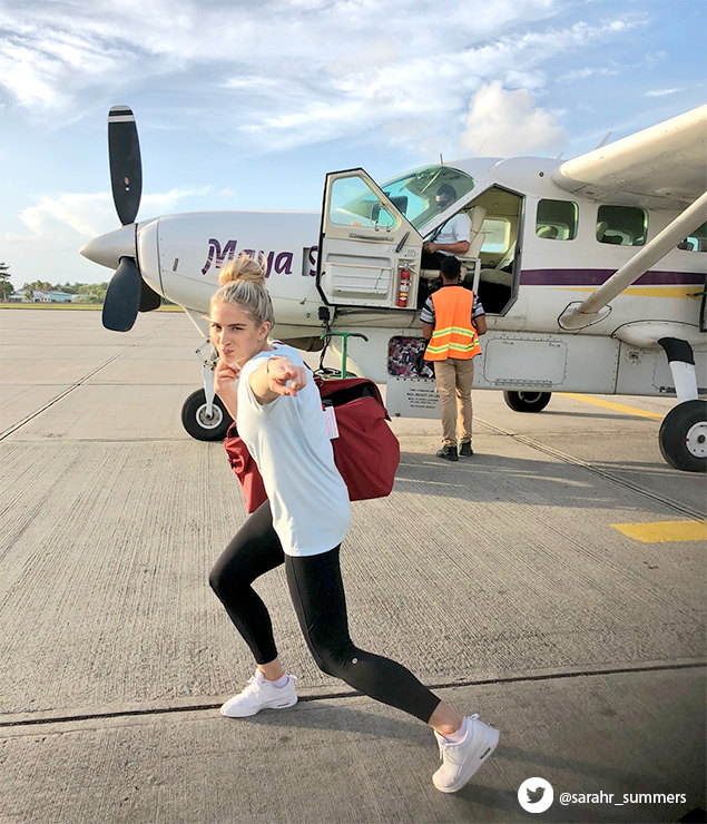 Celebrity Spotting: Miss USA Sarah Summers Vacations in Belize
